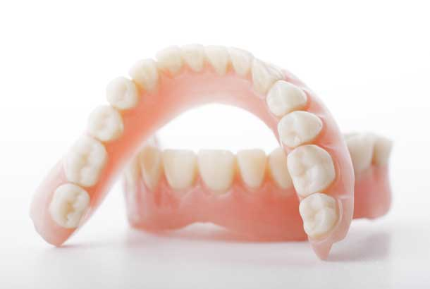 A set of dentures.